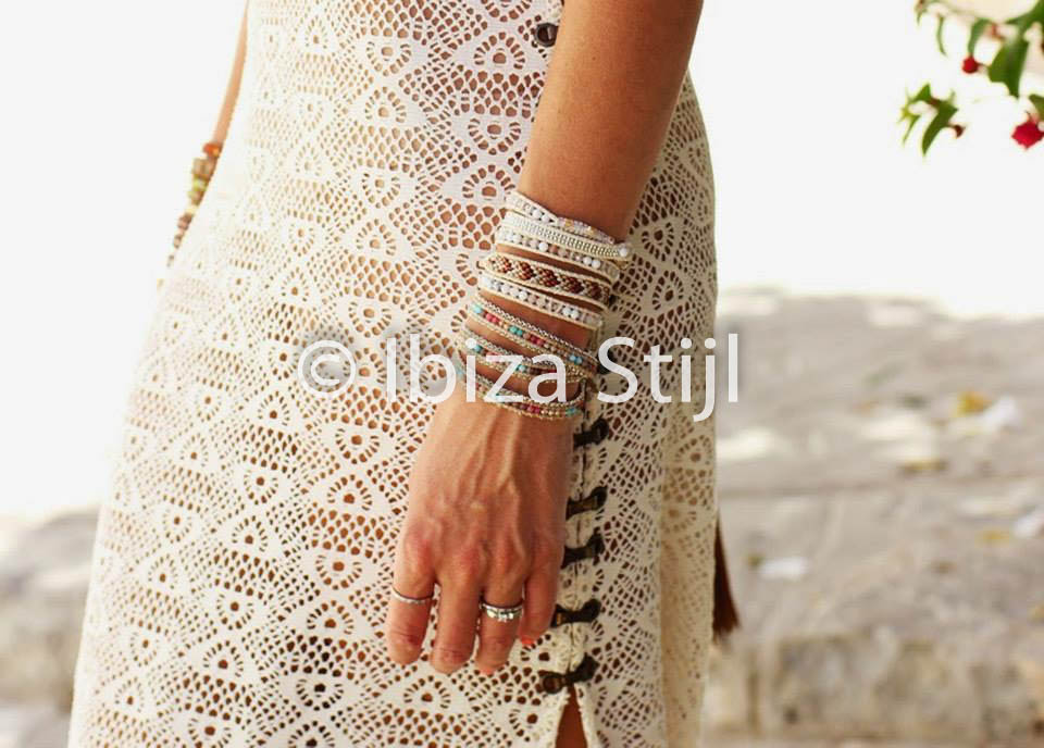 ibiza stijl jurk wit